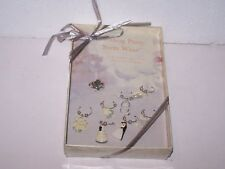 Set of 8 Lillian Rose Wedding Party Stem Wear charms wine or champagne glasses