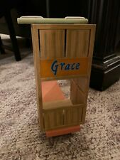 """AMERICAN GIRL Kit's 18"""" Doll Scooter Grace California Oranges Crate Cart"""