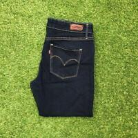LEVIS 700 Demi Curve Womens Jeans 31 x 30 Dark Wash | Mid Rise Straight Leg