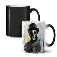 Smoking Skeleton Skull NEW Colour Changing Tea Coffee Mug 11 oz | Wellcoda