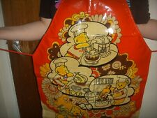 Vintage Cook Electric PVC Red Teddy Apron