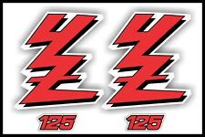 Yamaha YZ125 Factory Style Shroud Graphics Kit  89-92  YZ 125 decals stickers 90