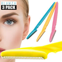 3 pc Eyebrow Shaper Dermaplaning Womens Grooming Shaver Shaping Safe Razor Tool