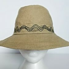 f437c72aa9a2 REI Fedora Hat Cap Mens Size S/M in Khaki Green Stitch Band Details  Crushable