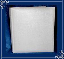 White traditional Satin Finish interleaved Large album Plain Photo Keepsake  7