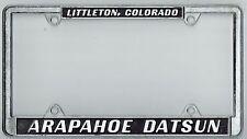 RARE Littleton Colorado Arapahoe Datsun Vintage California License Plate Frame