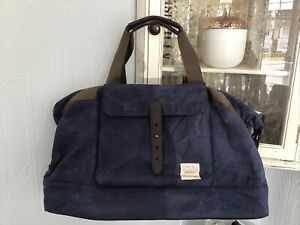 Mens Lyle And Scott Holdall Bag Gym Distressed Navy Blue (M521)