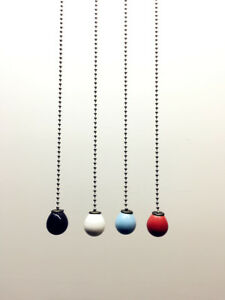 Light Pull Chain Cord Ceramic Weight for Bathroom Choose 100cm Chrome Chain