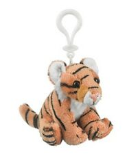 "4"" Tiger Plush Stuffed Animal Clip On KeyChain - New"