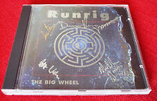 RUNRIG The Big Wheel CD AUTOGRAPHED by all 6 band members, 1991 inc Donnie Munro
