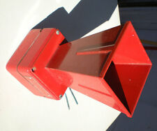 Vintage Retro Vibratone Electric Horn Alarm Federal Signal Red School Fire Siren