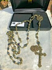 VINTAGE ST. MICHAEL ROSARY 8-10mm-LE #490 CERTIFICATE! Gift Case STUNNING NEW