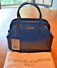NWT Charles Jourdan Navy Blue Leather Viva Satchel, Cross body bag