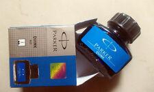 PARKER Quink Ink Bottle ~ BLUE ~ Original, Brand New * Free Shipping