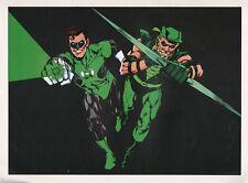 Vintage 1978 GREEN LANTERN & GREEN ARROW Pin up Poster DC