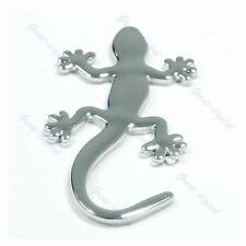 Metal Gecko Shape Badge Emblem Logo Auto Car Truck Decor 3D Sticker Decal Silver