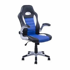 Race Car Style Gaming Office Chair Swivel Chair w/ Adjustable Armrest