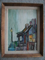 MODERNIST CITYSCAPE OIL PAINTING