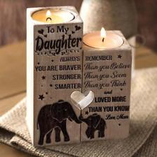 MOM To Daughter Pair Candle Holder 2020 Xmas Birthday Graduation Christmas Gift