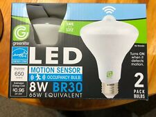 2 pack indoor/OUTDOOR Motion Sensor flood led Light Bulb 65 watt
