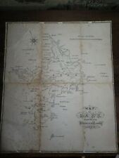 1895 MAP OF SARK BY FREDERICK CLARKE GUERNSEY CHANNEL ISLANDS JERSEY SERK *