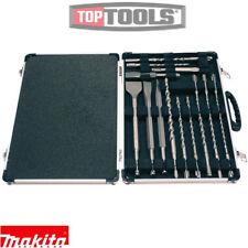 Makita D-21200 17 Piezas SDS Plus Drill Bit Set + CONJUNTO DE CINCEL + Estuche De Metal