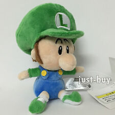 Super Mario World Bros. Plush Soft Toy Baby Luigi Stuffed Animal Doll Teddy 6""