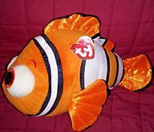 Ty Beanie Buddies NEMO Finding Dory 11in Sparkle Orange White Clown Fish 2016