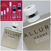 Chanel Allure Homme EDITION BLANCHE EDP SAMPLE 2ml 3ml 5ml 10ml 15ml 30ml Glass