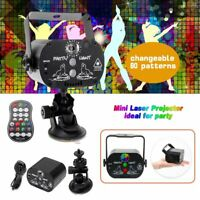 60 Patterns Projector LED RGB Laser Stage Light DJ Disco Home Party Decor Lamp