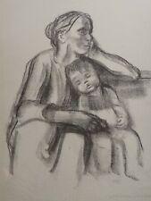 Framed  Kathe Kollwitz MOTHER and CHILD Litho/Etching (copy)