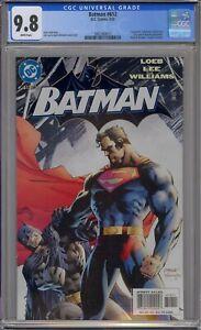 BATMAN #612 CGC 9.8 HUSH JIM LEE SUPERMAN COVER