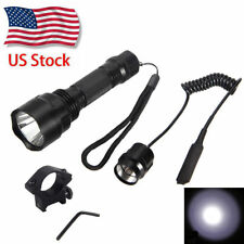 1-Mode 5000lm XML T6 LED Tactical Flashlight Hunting Gun/Rifle Mount 18650 Light