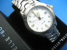 BULOVA CARAVELLE 45B09 MEN'S CASUAL WATCH STAINLESS STEEL CASE ANALOG/DATE/DAY