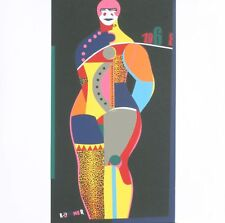 Fun City from Multiples by Richard Lindner 1968 Serigraph Art Print 15x15