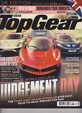 BBC TOP GEAR MAGAZINE JANUARY 2015, JUDGEMENT DAY.