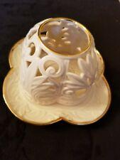 Lenox Tea Light Votive Candle Holder & Dome Pierced