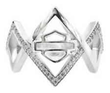 Cubic Zirconia Hdr0451 Sz 7 Harley-Davidson Womens Festival Ring w/White