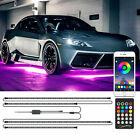 RGB LED Strip Under Car Truck Tube Underglow Underbody System Neon Light Kit