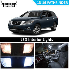White LED Interior Light Accessories Kit for 2013-2016 Nissan Pathfinder 9 Bulbs