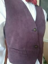 Waist Length Button Suede Plus Size Waistcoats for Women