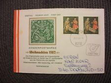Österreich 1982/illustr.FDC Michel-Nr.1724(2x)+St.25.11.82 Graz/echt gelaufen