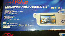 "TKO Audio 7.2"" SUNVISOR TFT LCD Monitor NTSC System With Remote Control"