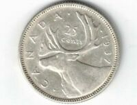 CANADA 1937 25 CENTS QUARTER KING GEORGE VI CANADIAN SILVER COIN