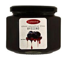 Greek Sweet Fruit Preserve in Syrup  Sour Cherry   Net weight 453gr Glass jar