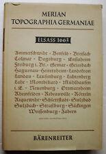 MERIAN Topographia Germaniae Elsass 1663 éd Bärenreiter