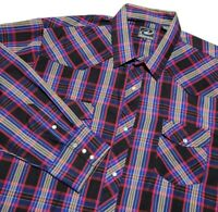 Roper Mens 3XL Plaid Western Snap Button Shirt