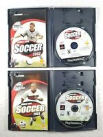 World Tour Soccer 2002 & 2003 (Sony PlayStation 2, PS2) Complete CIB Set Lot