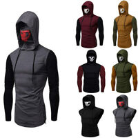 Men Slim Fit Hoodie Long Sleeve Muscle Tee T-shirt Sweatshirt Casual Tops Blouse