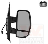 Exterior Mirror Right - Van Wezel 3799802